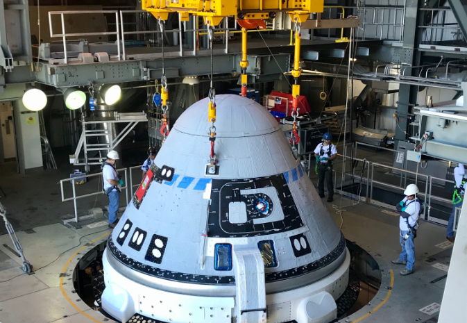 Starliner crew capsule and multiple wireless load cells